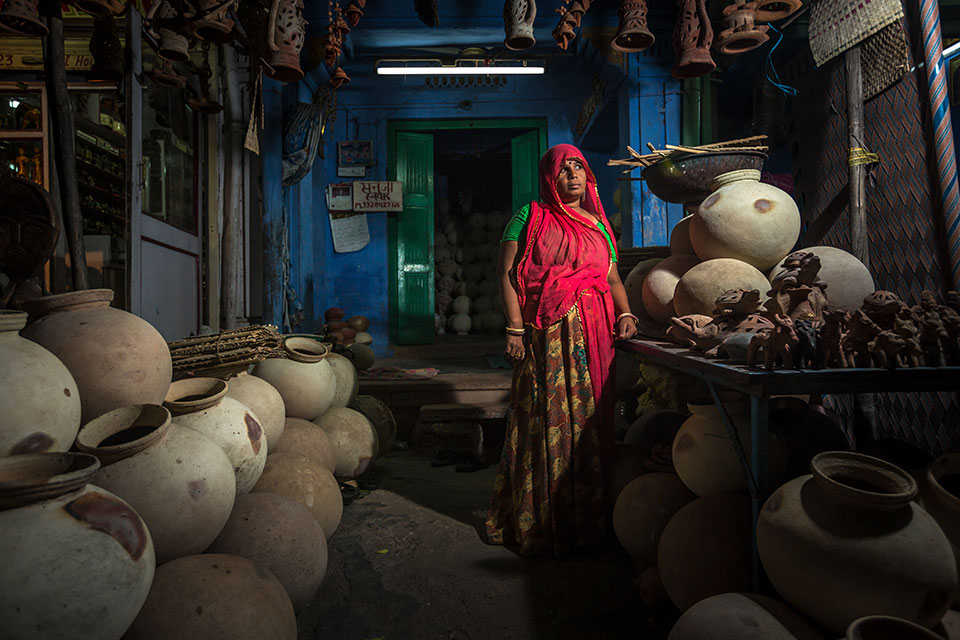 North India -  Pottery seller