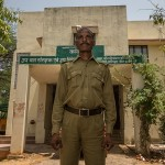 Jugraj, ex-poacher in front of the Forest Department Office