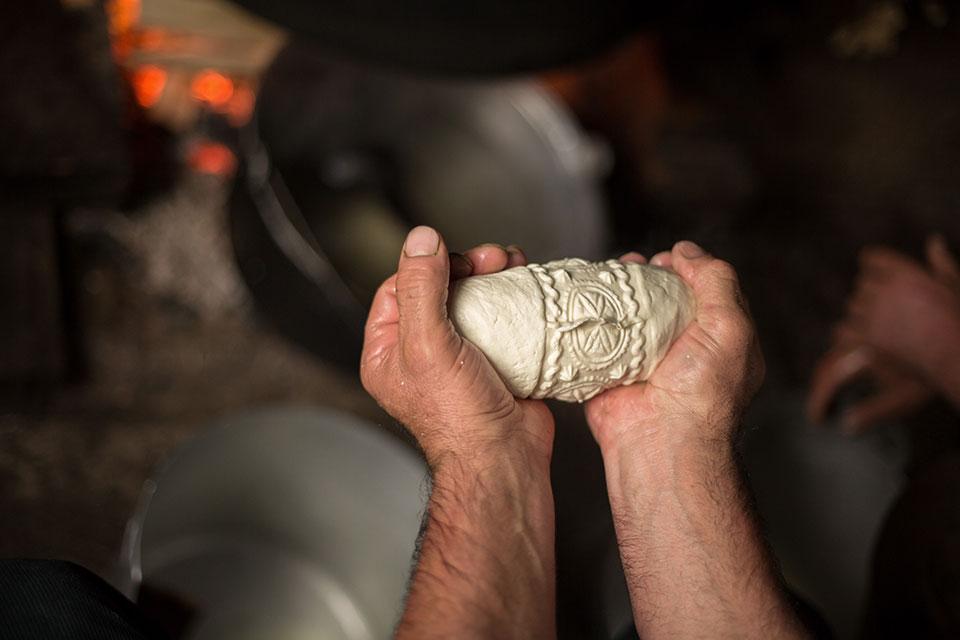 Salaš - Making cheese